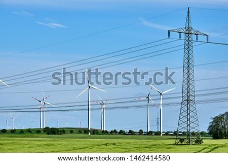 ветер небе технологий промышленных Сток-фото © elxeneize