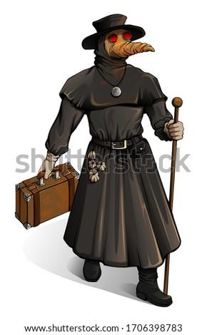 Middeleeuwse arts pak koffer vintage geneeskunde Stockfoto © orensila
