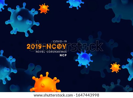 global coronavirus pandemic background with virus cells frame Stock photo © SArts