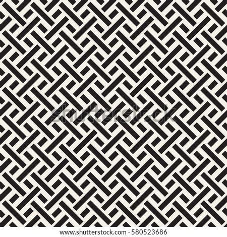 Trendy twill weave Lattice. Abstract Geometric Background Design. Vector Seamless Black and White Pa Stock photo © samolevsky