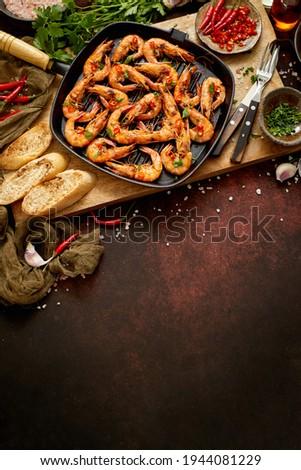 ızgara izgara tava taze limon Stok fotoğraf © dash