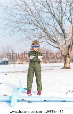 cute girl ready for the winter cold day standing and feeling co stock photo © carlodapino