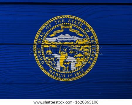 bayrak · Nebraska · grunge · ahşap · doku · kesin - stok fotoğraf © vepar5