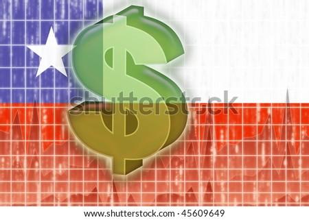 Bandera Chile símbolo ilustración clipart financiar Foto stock © dacasdo