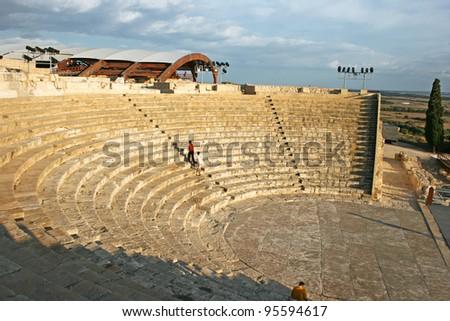High Angle View Of A Roman Amphitheater Kourion Limassol Cyprus ストックフォト © ruzanna