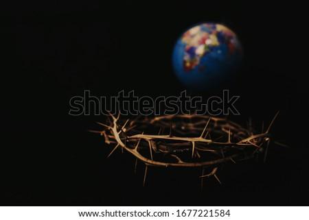 Hristiyan · çapraz · İsa · Mesih · heykel · fırtına - stok fotoğraf © stevanovicigor