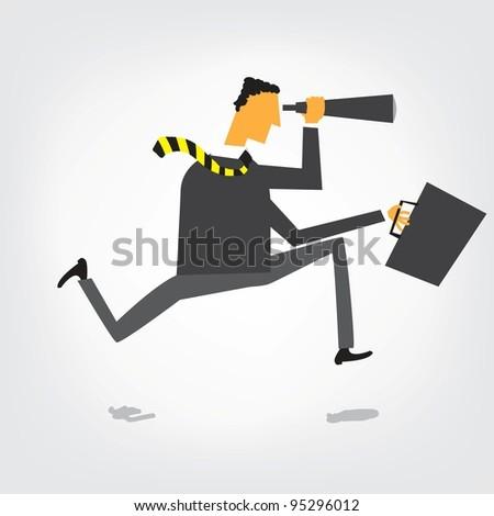 Fut üzletember látcső álláskeresés izolált üzlet Stock fotó © Kirill_M