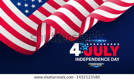 4th july american independence day template brochure wave vector Stock photo © bharat