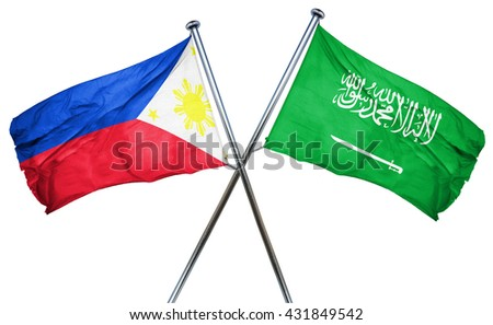 Saudi Arabia and Philippines Flags  Stock photo © Istanbul2009