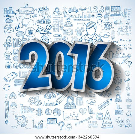 2016 negocios creativa dibujo éxito estrategia Foto stock © DavidArts