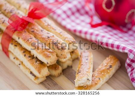 Pão salgado gergelim sementes preparado novo Foto stock © x3mwoman