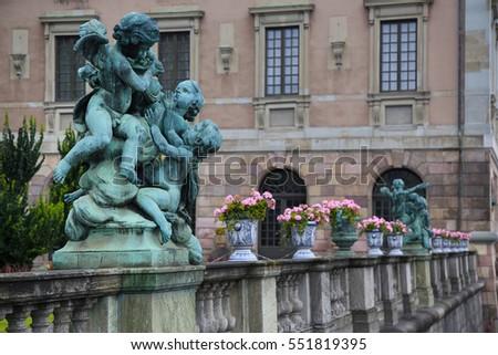 Bronze sculpture Barmhertighet at the Royal palace statue, Stock Stock photo © vladacanon