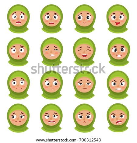 belo · muçulmano · menina · verde · hijab · isolado - foto stock © maia3000