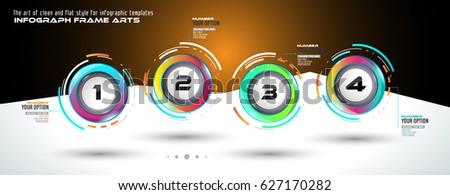 Sablon többszörös lehetőségek infografika terv elemek Stock fotó © DavidArts