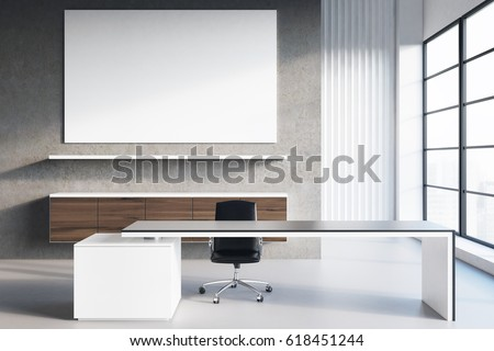 3D render of an office desk for successful  business  with coffee and  eyeglasseswith cellphone, tab stock photo © danilo_vuletic