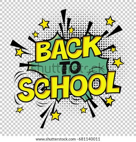 Powrót do szkoły plakat komiks retro żółty alfabet Zdjęcia stock © pashabo