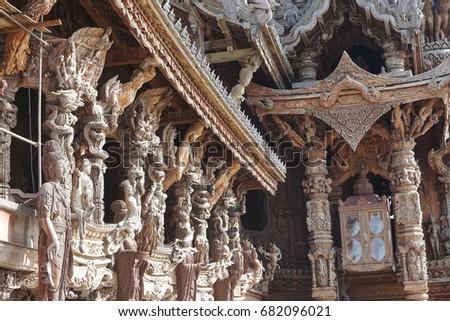 Sanctuary of truth in Thailand Pattaya July 2017 Stock photo © Wetzkaz