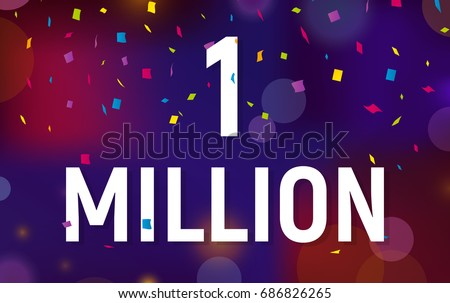 thank you 1 million followers vector design with black watercolo Stock photo © SArts