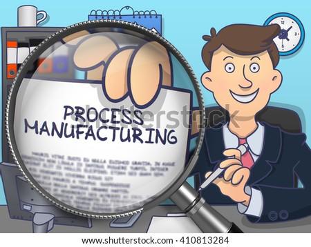 Herstellung Lupe Doodle Design heiter Geschäftsmann Stock foto © tashatuvango
