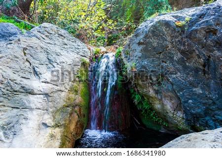 pequeno · cachoeira · inverno · Grécia · madeira · paisagem - foto stock © ankarb