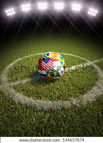 Portogallo calcio calcio palla stadio 3D Foto d'archivio © Wetzkaz