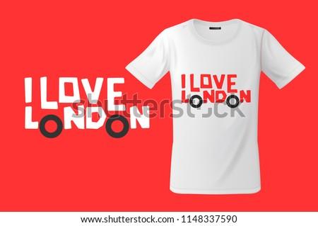 Liefde Londen print mobiele telefoons vector mode Stockfoto © ikopylov