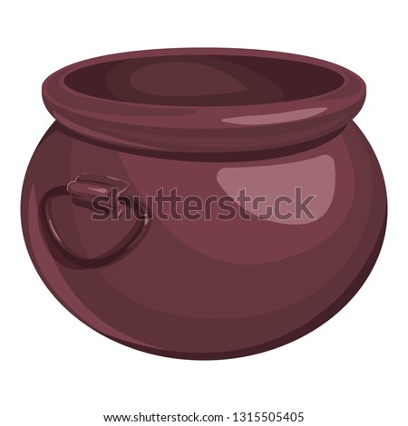 Boiler is on charcoal. pot isolated. Big cauldron on white backg Stock photo © popaukropa