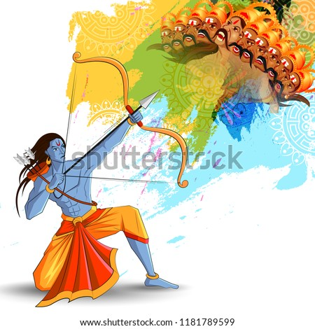 Boeg pijl gelukkig festival Indië illustratie Stockfoto © vectomart