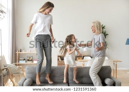 дети бабушки домой иллюстрация ребенка фон Сток-фото © colematt