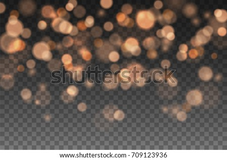 Orange glitter sparkle on a transparent background. Vibrant background with twinkle lights. Vector i Stock photo © olehsvetiukha