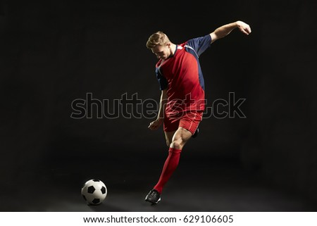 Futball copy space futball játékosok rúg labda Stock fotó © matimix