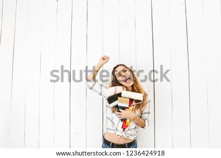 изображение · счастливым · женщину · 20-х · годов · более - Сток-фото © deandrobot