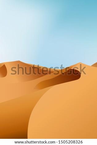 Dikey sonsuz kuru çöl manzara kum Stok fotoğraf © MarySan