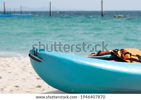 Kayaks moored at beach at tropical islands Stock photo © vapi