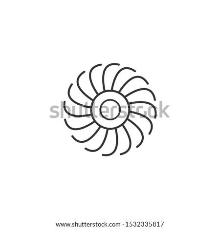 空気 平面 タービン エンジン 風 ファン ストックフォト © kyryloff