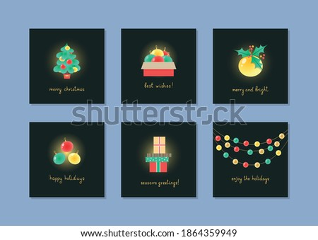 Warm wishes. Lettering phrase on dark background. Design element for poster, card, banner.  Stock photo © masay256