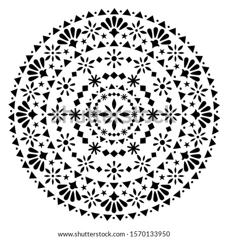 メキシコ料理 ベクトル 曼陀羅 デザイン モノクロ 芸術 ストックフォト © RedKoala