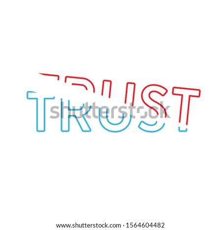 синий красный доверия линейный слово типографики Сток-фото © kyryloff