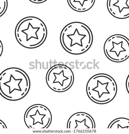 Stock photo: Loyalty Program Seamless Pattern Vector
