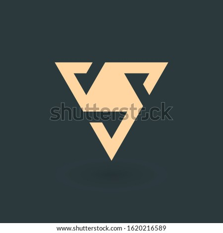 Letter A or delta geometric triangle logo design. Trinity concept. Business identity tech element. S Stock photo © kyryloff