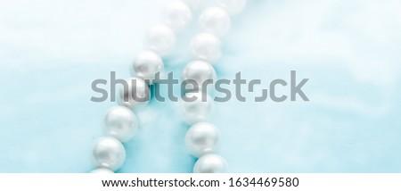 Jóias moda pérola colar azul Foto stock © Anneleven