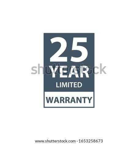 25 年 保証 アイコン ラベル 証明書 ストックフォト © kyryloff