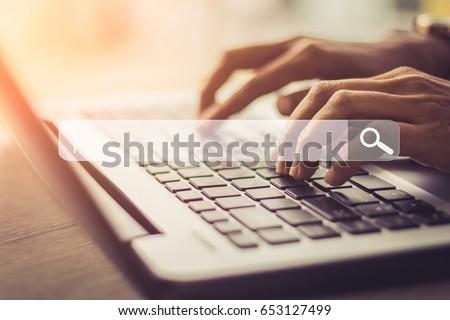 Online zoeken website Open Zoek toepassing Stockfoto © jossdiim