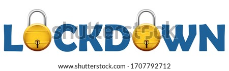 Isolated background with padlock showing lockdown due to deadly Novel Coronavirus 19 epidemic outbre Stock photo © vectomart