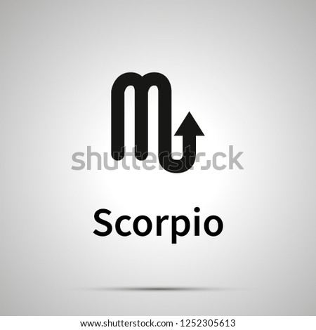 Scorpio astronomical sign, simple black icon with shadow on gray Stock photo © evgeny89