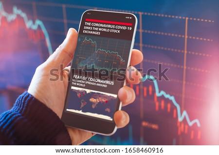 Corona Smartphone Virus Warning Stock photo © limbi007