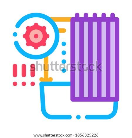 Sanitário problemas banheiro ícone vetor Foto stock © pikepicture