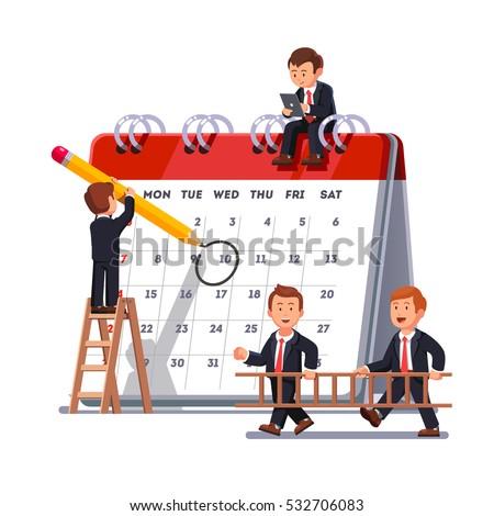 Scheduling timetable vector concept metaphor. Stock photo © RAStudio
