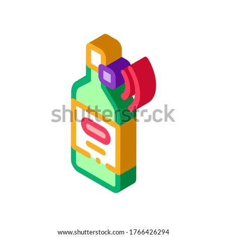 Bottiglia segnale sensore isometrica icona Foto d'archivio © pikepicture