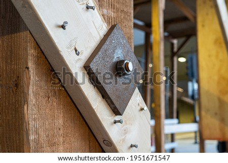Foreman inspecting progress of wooden house Stock photo © photography33